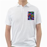 Abstract Sketch Art Squiggly Loops Multicolored Golf Shirts Front