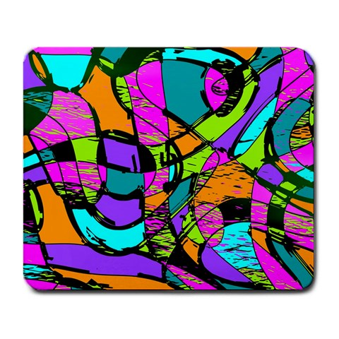 Abstract Sketch Art Squiggly Loops Multicolored Large Mousepads