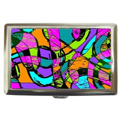 Abstract Sketch Art Squiggly Loops Multicolored Cigarette Money Cases