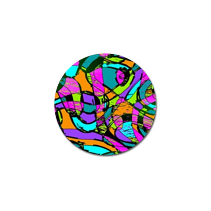 Abstract Sketch Art Squiggly Loops Multicolored Golf Ball Marker (4 pack)