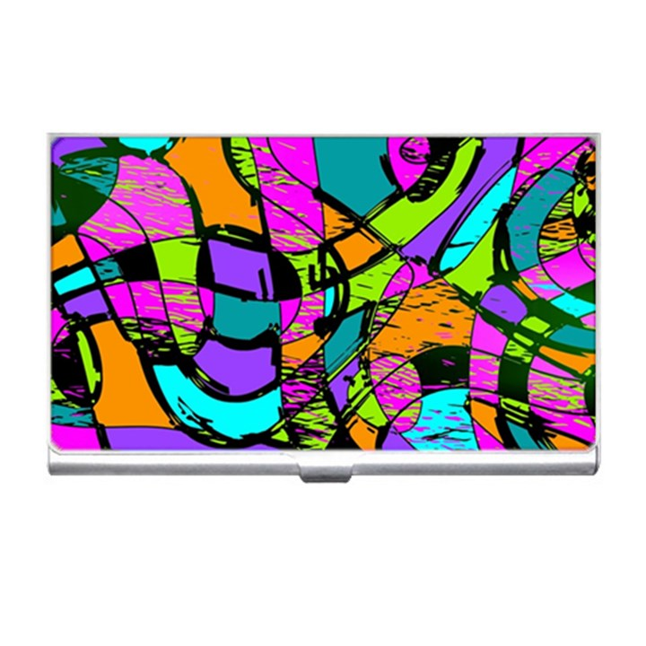 Abstract Sketch Art Squiggly Loops Multicolored Business Card Holders