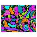 Abstract Sketch Art Squiggly Loops Multicolored Rectangular Jigsaw Puzzl Front