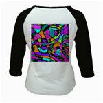 Abstract Sketch Art Squiggly Loops Multicolored Kids Baseball Jerseys Back