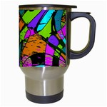 Abstract Sketch Art Squiggly Loops Multicolored Travel Mugs (White) Right