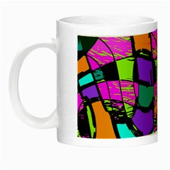Abstract Sketch Art Squiggly Loops Multicolored Night Luminous Mugs