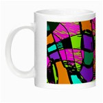 Abstract Sketch Art Squiggly Loops Multicolored Night Luminous Mugs Left