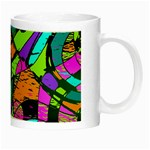 Abstract Sketch Art Squiggly Loops Multicolored Night Luminous Mugs Right