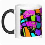 Abstract Sketch Art Squiggly Loops Multicolored Morph Mugs Left