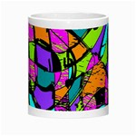 Abstract Sketch Art Squiggly Loops Multicolored Morph Mugs Center