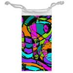 Abstract Sketch Art Squiggly Loops Multicolored Jewelry Bags Back
