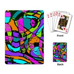 Abstract Sketch Art Squiggly Loops Multicolored Playing Card Back