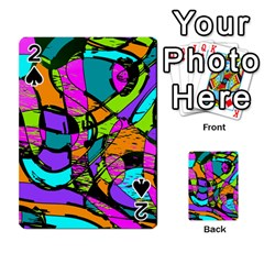 Abstract Sketch Art Squiggly Loops Multicolored Playing Cards 54 Designs