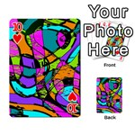 Abstract Sketch Art Squiggly Loops Multicolored Playing Cards 54 Designs  Front - Heart10
