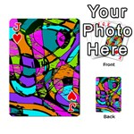Abstract Sketch Art Squiggly Loops Multicolored Playing Cards 54 Designs  Front - HeartJ
