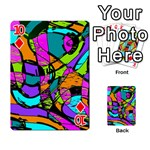 Abstract Sketch Art Squiggly Loops Multicolored Playing Cards 54 Designs  Front - Diamond10