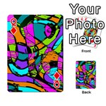 Abstract Sketch Art Squiggly Loops Multicolored Playing Cards 54 Designs  Front - DiamondQ