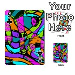 Abstract Sketch Art Squiggly Loops Multicolored Playing Cards 54 Designs  Front - Club5