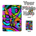 Abstract Sketch Art Squiggly Loops Multicolored Playing Cards 54 Designs  Front - ClubA