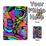 Abstract Sketch Art Squiggly Loops Multicolored Playing Cards 54 Designs  Front - Joker2