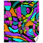 Abstract Sketch Art Squiggly Loops Multicolored Canvas 8  x 10  10.02 x8 Canvas - 1
