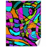 Abstract Sketch Art Squiggly Loops Multicolored Canvas 18  x 24   24 x18 Canvas - 1