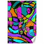 Abstract Sketch Art Squiggly Loops Multicolored Canvas 24  x 36  36 x24 Canvas - 1