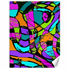 Abstract Sketch Art Squiggly Loops Multicolored Canvas 36  X 48