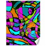 Abstract Sketch Art Squiggly Loops Multicolored Canvas 36  x 48   48 x36 Canvas - 1