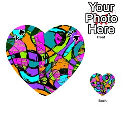 Abstract Sketch Art Squiggly Loops Multicolored Playing Cards 54 (heart)
