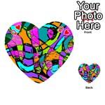 Abstract Sketch Art Squiggly Loops Multicolored Playing Cards 54 (Heart)  Front - HeartQ