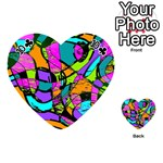 Abstract Sketch Art Squiggly Loops Multicolored Playing Cards 54 (Heart)  Front - Club10