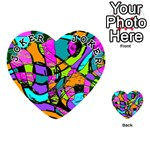 Abstract Sketch Art Squiggly Loops Multicolored Playing Cards 54 (Heart)  Front - Joker1