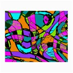 Abstract Sketch Art Squiggly Loops Multicolored Small Glasses Cloth (2-Side) Back