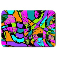 Abstract Sketch Art Squiggly Loops Multicolored Large Doormat