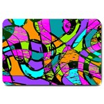 Abstract Sketch Art Squiggly Loops Multicolored Large Doormat  30 x20 Door Mat - 1