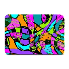 Abstract Sketch Art Squiggly Loops Multicolored Plate Mats