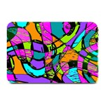Abstract Sketch Art Squiggly Loops Multicolored Plate Mats 18 x12 Plate Mat - 1