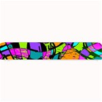 Abstract Sketch Art Squiggly Loops Multicolored Small Bar Mats 24 x4 Bar Mat - 1