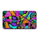 Abstract Sketch Art Squiggly Loops Multicolored Medium Bar Mats 16 x8.5 Bar Mat - 1