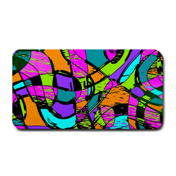 Abstract Sketch Art Squiggly Loops Multicolored Medium Bar Mats