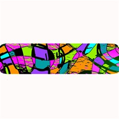 Abstract Sketch Art Squiggly Loops Multicolored Large Bar Mats