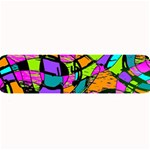 Abstract Sketch Art Squiggly Loops Multicolored Large Bar Mats 34 x9.03 Bar Mat - 1