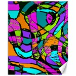 Abstract Sketch Art Squiggly Loops Multicolored Canvas 11  x 14   14 x11 Canvas - 1