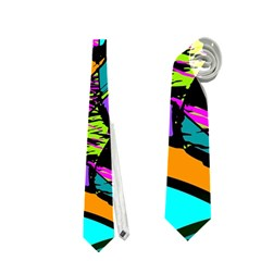 Abstract Sketch Art Squiggly Loops Multicolored Neckties (Two Side)