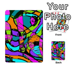 Abstract Sketch Art Squiggly Loops Multicolored Multi Purpose Cards (rectangle)