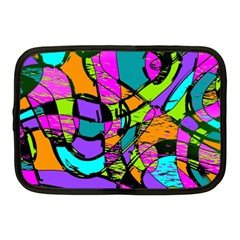 Abstract Sketch Art Squiggly Loops Multicolored Netbook Case (medium)