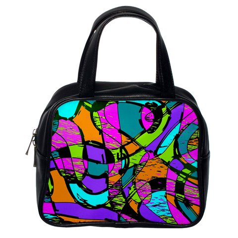 Abstract Sketch Art Squiggly Loops Multicolored Classic Handbags (One Side)