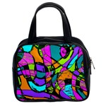 Abstract Sketch Art Squiggly Loops Multicolored Classic Handbags (2 Sides) Front