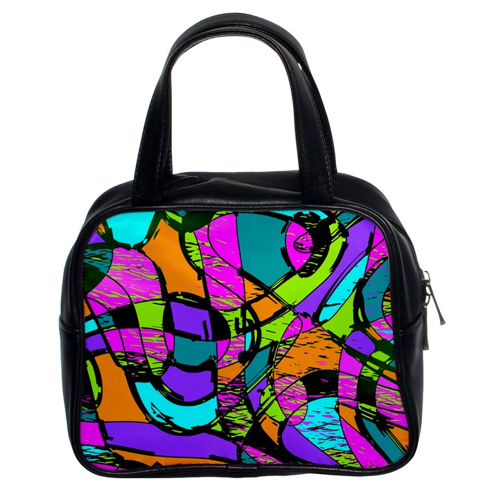 Abstract Sketch Art Squiggly Loops Multicolored Classic Handbags (2 Sides)
