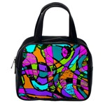 Abstract Sketch Art Squiggly Loops Multicolored Classic Handbags (2 Sides) Back